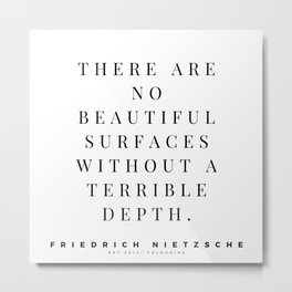 12  | Friedrich Nietzsche Quotes 200902 Metal Print