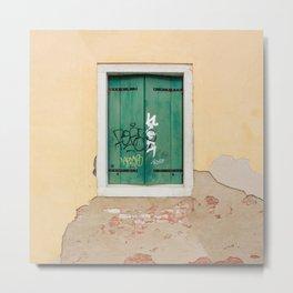 Window in Venice Metal Print