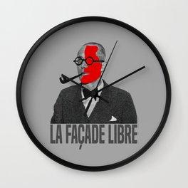 La Façade Libre Wall Clock