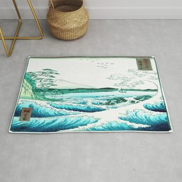 The Sea at Satta : Aqua Teal Rug