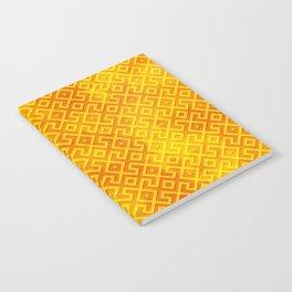 Orange Watercolor & Geometric Pattern Notebook