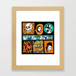 Try to laugh about it Framed Art Print