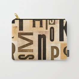 Vintage Typeset Composition Carry-All Pouch