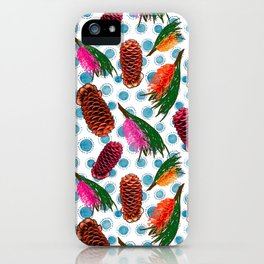Beautiful Australian Native Floral Print - Grevillea and Beehive Ginger iPhone Case