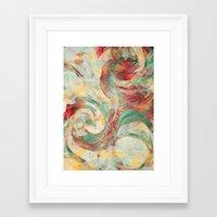 reassurance Framed Art Prints featuring Rapt by Jacqueline Maldonado