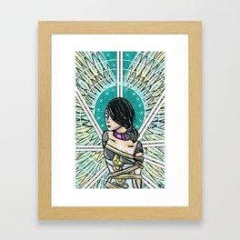 Borderlands Tarot: The 8 of Swords Framed Art Print