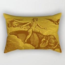 The Occult Golden Elephant Rectangular Pillow
