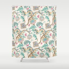 Indian Inspired Pattern Design Shower Curtain