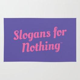 Pink Slogans for Nothing Rug