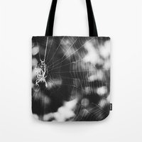 tangled Tote Bags featuring Tangled by Christine Hall