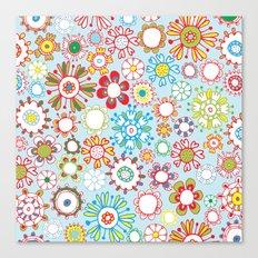 Fun Flowers Canvas Print