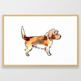 Peaches - Dog Watercolour Painting Framed Art Print