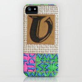 Alpha-Numero: U iPhone Case