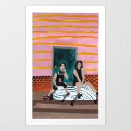 porch bed~ Art Print