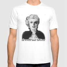 Screwed and Tattooed, Rockabilly Marilyn.  White MEDIUM Mens Fitted Tee