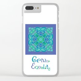 Gender Equality - Blue Green Clear iPhone Case