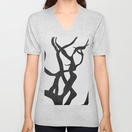abstract-tree branch 2 Unisex V-Neck
