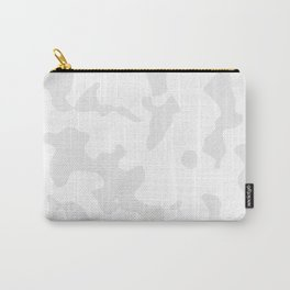 Large Spots - White and Pale Gray Carry-All Pouch