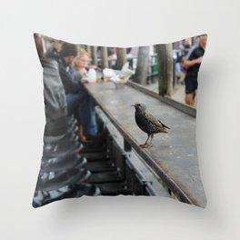 Candem bird Throw Pillow