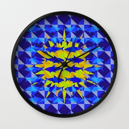 Blue Shark Sun Wall Clock