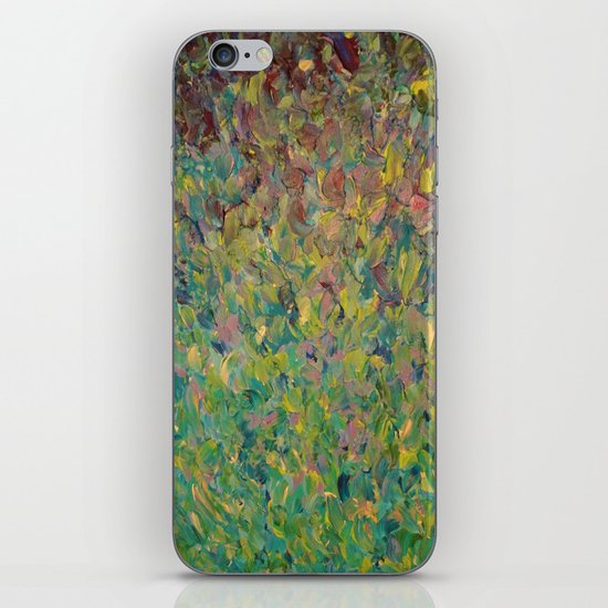 FIELDS OF BLUE - WOW Modern Abstract Shades of Blue and Green in Nature Theme Grass Waves iPhone & iPod Skin