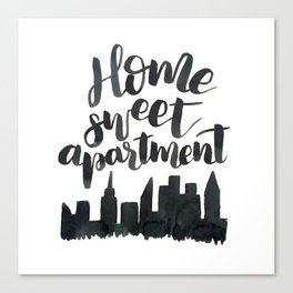 Home Sweet Apartment NYC Canvas Print