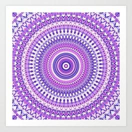 Purple Forever Mandala Art Print