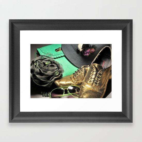 Shoe ad composition 4 Framed Art Print