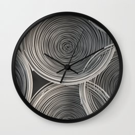 White spiraled coils Wall Clock