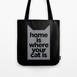 Home Is Where Your Cat Is Tote Bag