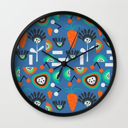 Funky fresh party Wall Clock