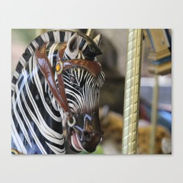 Carousel Zebra 2 Canvas Print