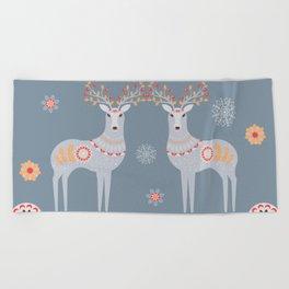 Nordic Winter Beach Towel