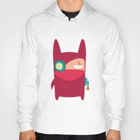 ninja Hoodies featuring Ninja by Joy Pham