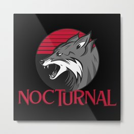Nocturnal Fox Metal Print