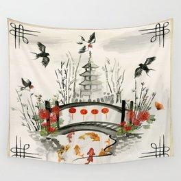 Oriental Garden Wall Tapestry