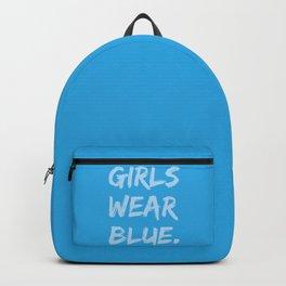 Girls Wear Blue Backpack