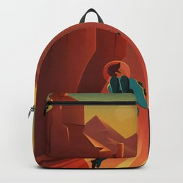 Retro Space Poster  Backpack