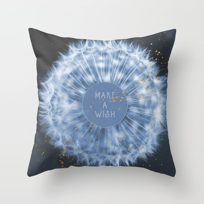 Make A Wish Dandelion Throw Pillow