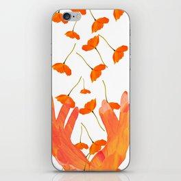 Wonderful Poppy Flowers Orange Coral Color White Background #decor #sociey6 #buyart iPhone Skin