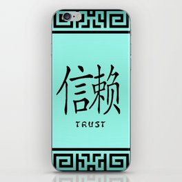 "Symbol ""Trust"" in Green Chinese Calligraphy iPhone Skin"