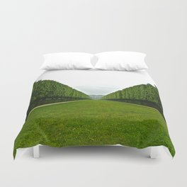 Between The Hedges Duvet Cover
