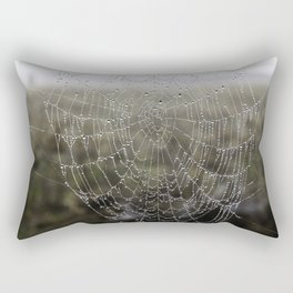 wet spider web Rectangular Pillow
