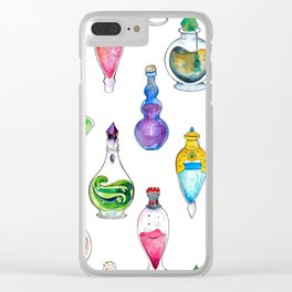 Potion Bottle Print Clear iPhone Case