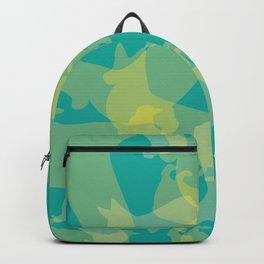 Blue & Yellow Corgi Pattern Backpack