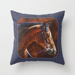Hanoverian Warmblood Sport Horse Throw Pillow