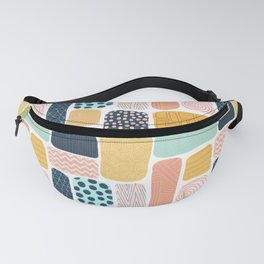 Abstract doodle shapes pattern Fanny Pack