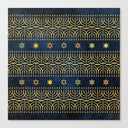 Menorah Pattern Canvas Print