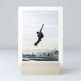 He's a skaterboy Mini Art Print