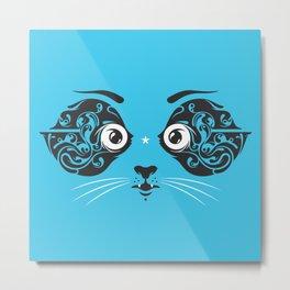 Cat face close-up Metal Print